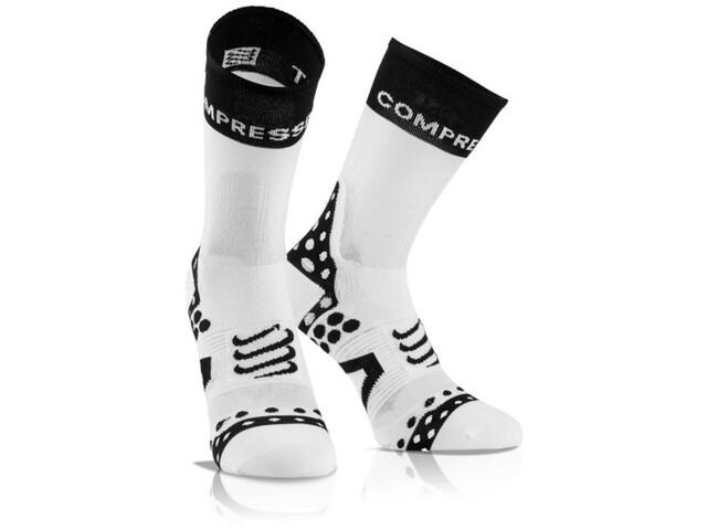 Modestil retro besserer Preis Compressport Pro Racing Ultralight Bike High Socks white-black
